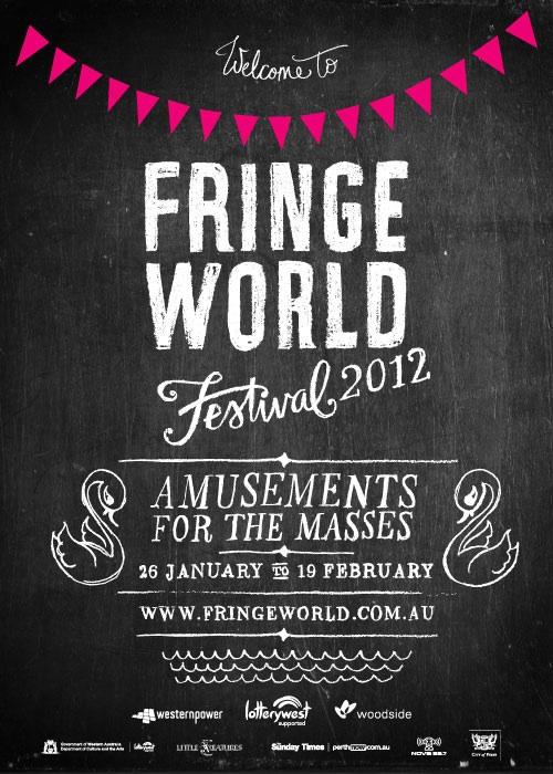 Fringe World Festival 2012 designed by Studio Bomba. Image courtesy of Artrage.